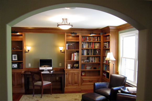 Home Library from Foyer
