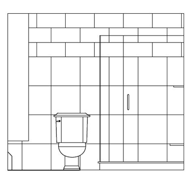 Shower Tile Layout