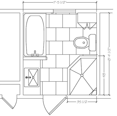 Pina Hall Bath Floor Plan